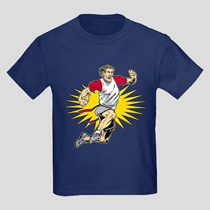 Flag Football Player Kids Dark T-Shirt