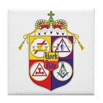 York Rite Masons Tile Coaster