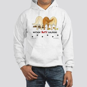 Golden Butts with Sticks/Balls Hooded Sweatshirt