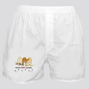 Golden Butts with Sticks/Balls Boxer Shorts
