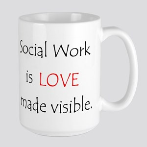Social Work is Love Stainless Steel Travel Mugs