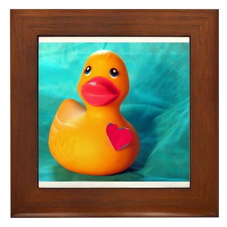 Love Duck Framed Tile