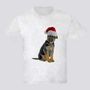German Shepherd Xmas Kids Light T-Shirt