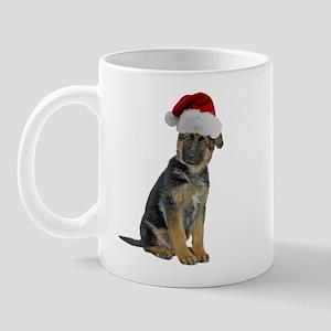 German Shepherd Xmas Mug