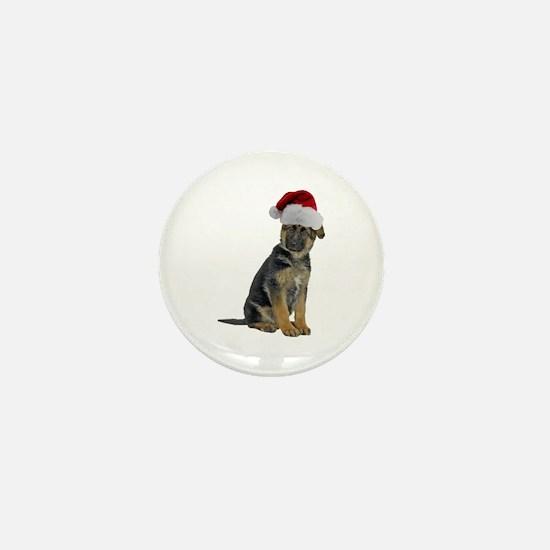 German Shepherd Xmas Mini Button