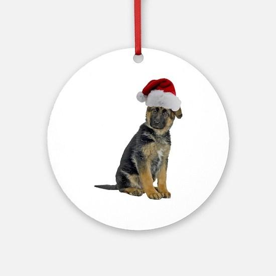 German Shepherd Xmas Ornament (Round)
