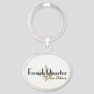 French Quarter NO Oval Keychain