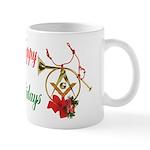 Masonic Holiday Horns Mug