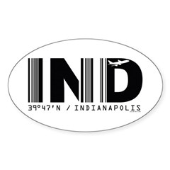 Indianapolis Airport IND Indiana Oval Decal