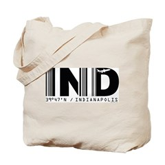 Indianapolis Airport Code IND Indiana Tote Bag