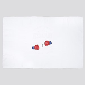 Balls And Gloves Boxing 4' x 6' Rug