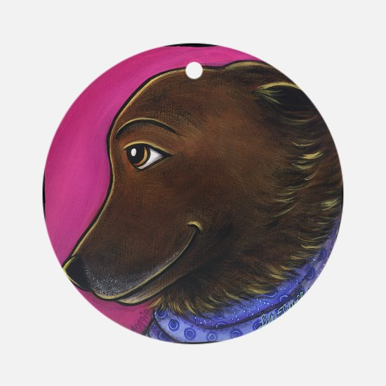 Shepard Chow Dog Ornament (Round)