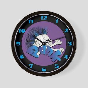 Punk Skull Wall Clock