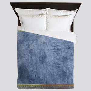 Blue Golden Egypt Queen Duvet