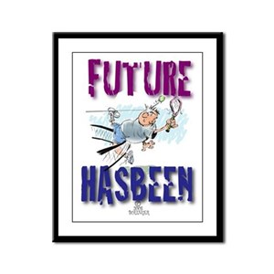 Future Tennis Framed Panel Print