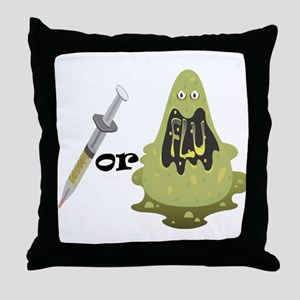 Needle or Flu Throw Pillow