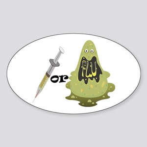 Needle or Flu Oval Sticker
