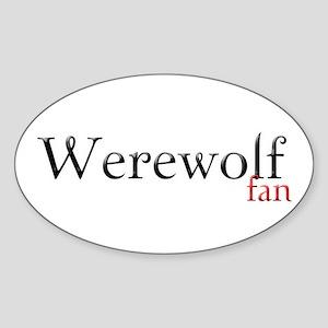 Werewolf Fan Oval Sticker
