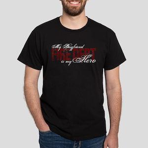 My Boyfriend is My Hero - Fire Dept Dark T-Shirt