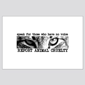 Report Animal Cruelty Cat Large Poster