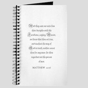 MATTHEW 22:16 Journal