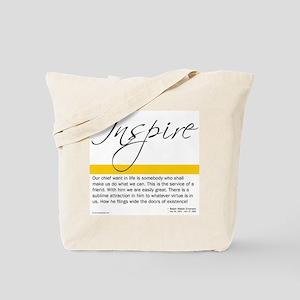 Emerson Quote: Inspiration Tote Bag