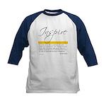 Emerson Quote: Inspiration Kids Baseball Jersey