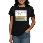 Emerson Quote: Inspiration Women's Dark T-Shirt