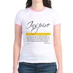 Emerson Quote: Inspiration Jr. Ringer T-Shirt