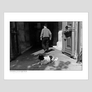 Man and dog - Paris Small Poster