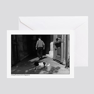 Man and dog - Paris Greeting Card