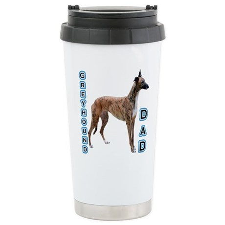Greyhound Dad4 Stainless Steel Travel Mug