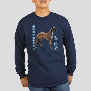 Greyhound Dad4 Long Sleeve Dark T-Shirt