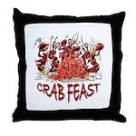Crab Feast Throw Pillow