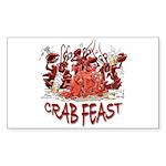 Crab Feast Rectangle Sticker