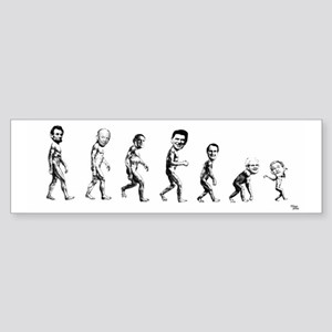 devolution,from Lincoln to Jr. Bumper Sticker