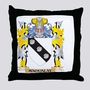 Mackinlay Coat of Arms - Family Crest Throw Pillow