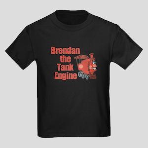 Brendan the Tank Engine Kids Dark T-Shirt