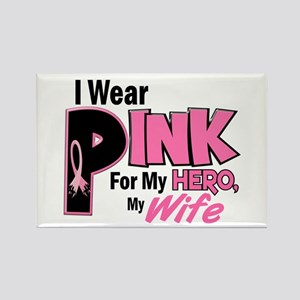 I Wear Pink For My Wife 19 Rectangle Magnet