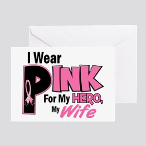 I Wear Pink For My Wife 19 Greeting Card