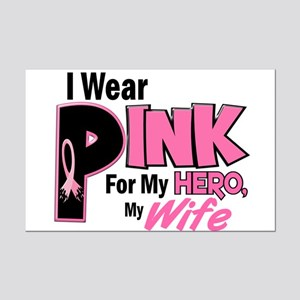 I Wear Pink For My Wife 19 Mini Poster Print