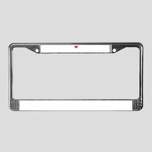 I Love Thanatology License Plate Frame