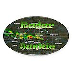 Radar Junkie Oval Sticker