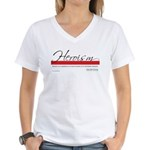 Emerson on Heroes Women's V-Neck T-Shirt