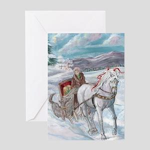 Xmas Greeting Card Andalusian Lipizzaner Lusitano