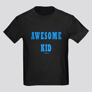 Awesome Dad and Kid Matching Kids Dark T-Shirt