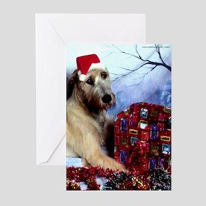 10-Irish Wolfhound Christmas Greeting Cards DS#21v