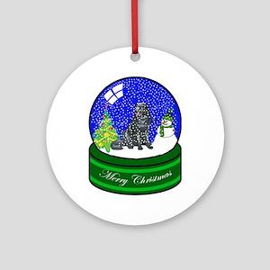 Snow Globe Newfoundland Ornament (Round)