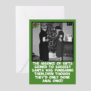 Funny Anal Sex Slogan Xmas Greeting Cards Pk Of 1