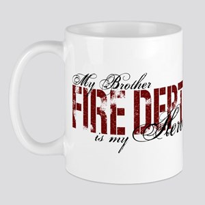My Brother is My Hero - Fire Dept Mug